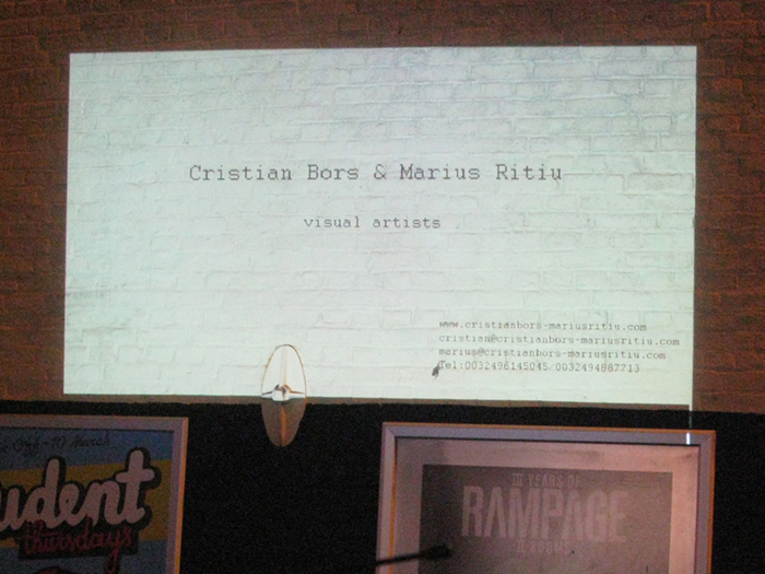 Cristian Bors & Marius Ritiu, Mobile projection nr.1, public space intervention, Antwerp, Belgium.